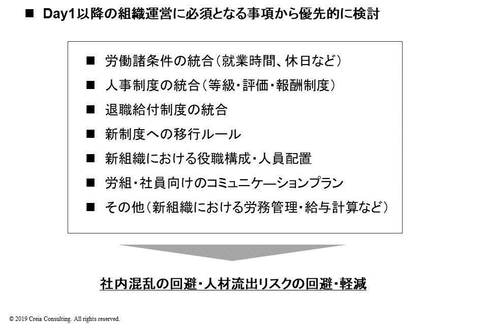 M&A・企業再編時の人事関連の設計事項